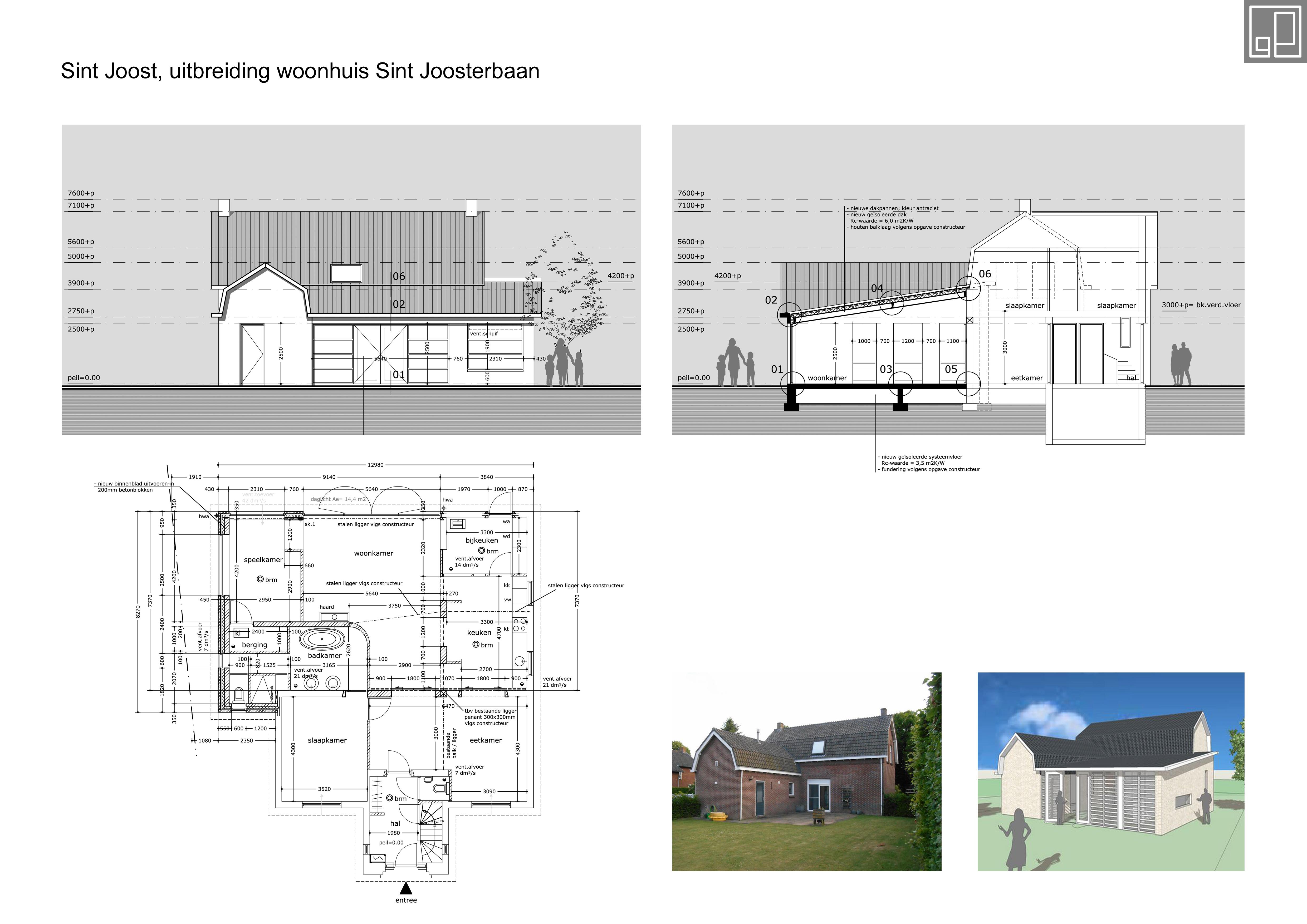 Uitbreiding woonhuis Sint Joost