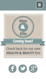 Health website templates – Health & Beauty Coming Soon