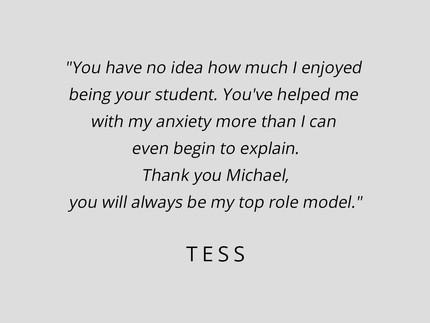 Tess Testimonial