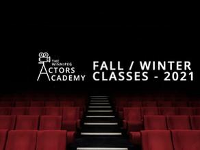 Fall / Winter Classes Announced!