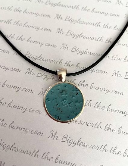 Mr Bigglesworth Nail Print Turquoise Granite Pendant