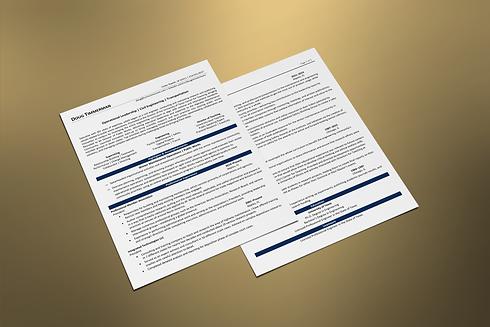 Century Resume - Executive Resume Example