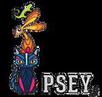 PSEY ry logo kissa kani lisko värikäs.pn