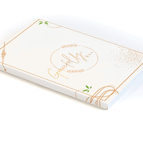 """""""Gracefully Her"""" Journal White and Gold"""