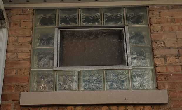 Chicago Horan Glass Block Basement WindowChicago Glass Block Vent Relacement