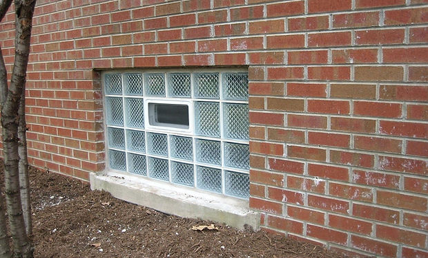Chicago Horan Glass Block Basement Window