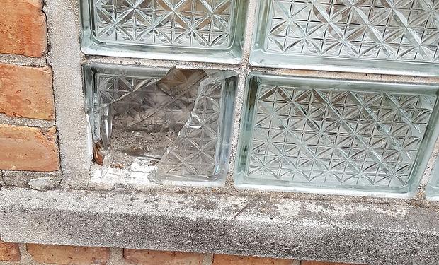 Horan Glass Block Broken Block