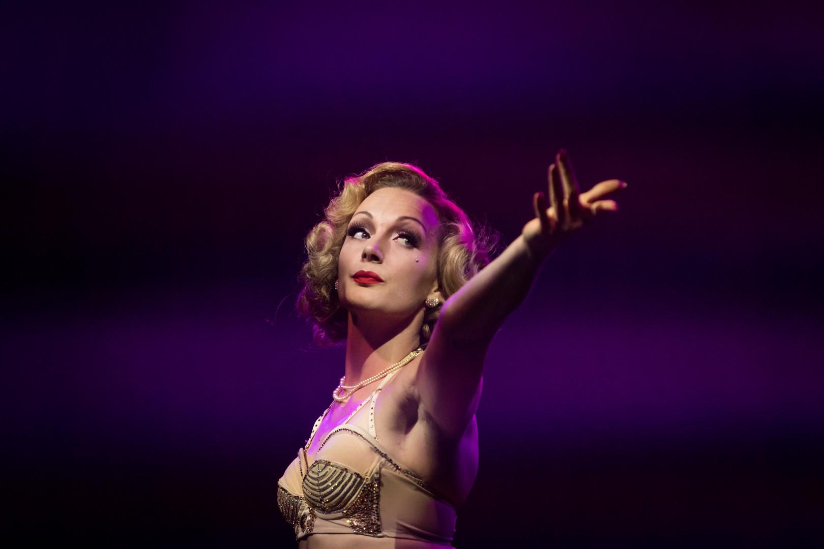Ulrike Storch Footjuggler Antpodist | Marlene Dietrich Lookalike Impersonator | Vintage Model | Circus Cabaret Star