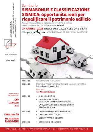 Sismabonus e classificzione sismica: opportunità reali per riqualificare il patrimonio edilizio 27_04_2018