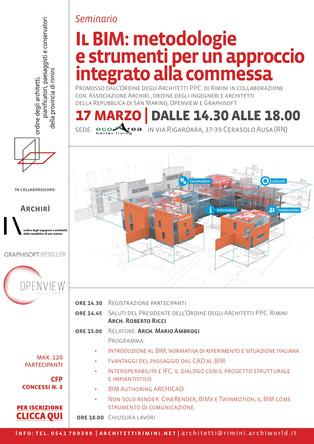 Il BIM metodologie e strumenti per un approccio integrato alla commessa 17_03_2020