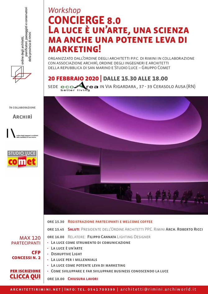 CONCIERGE 8.0 la luce è un'arte, una scienza e una potente leva di marketing! 20_02_2020