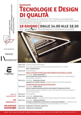Tecnologie e design di qualità 18_06_2019