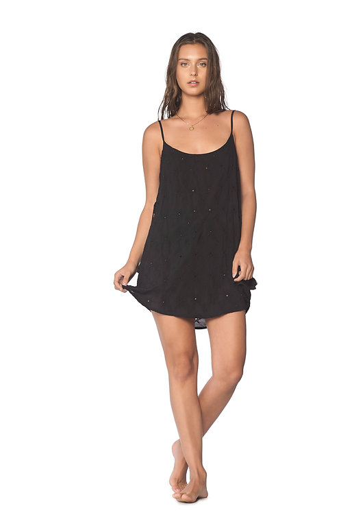 Black starry cozi dress