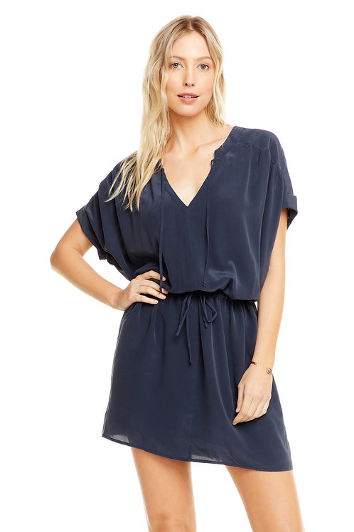 Silk hi-lo dolman dress: cruise by Chaser