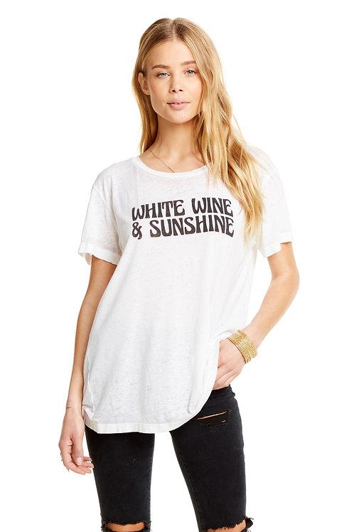 White wine & sunshine graphic tee