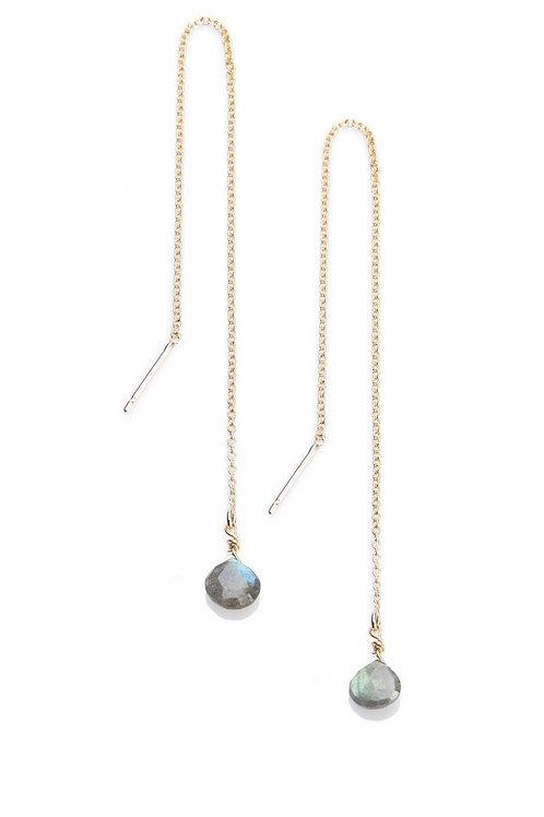 Labradorite Threader Earrings