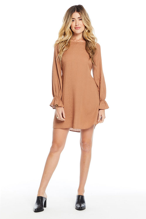 Ryder Mini Dress-Sienna texture