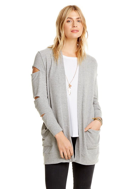Slitted Cardigan: Chaser