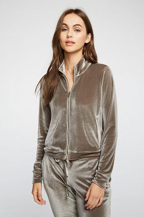 Stretch Velvet track jacket