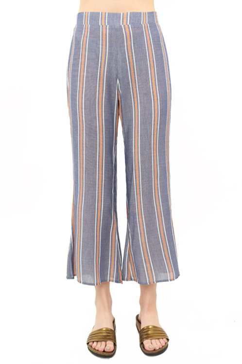 Retreat Crop Pant: Stripe