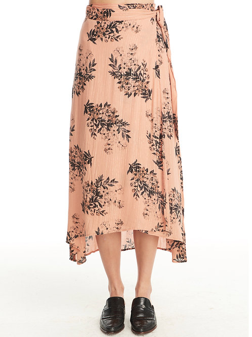Rose all day floral wrap skirt