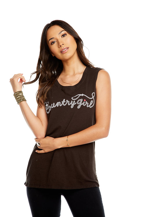 Country girl vintage jersey cap sleeve tee by Chaser