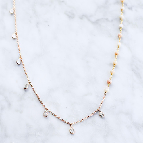 geometric convertible white strand product golden large store multi necklace long