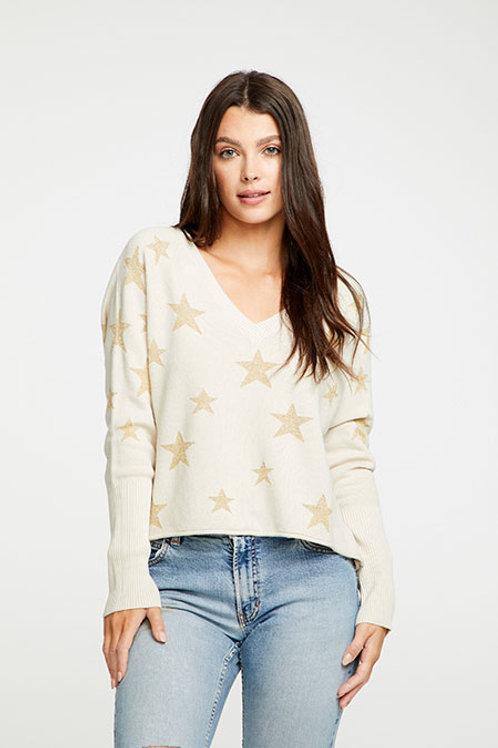 Star Intarsia Raglan pullover