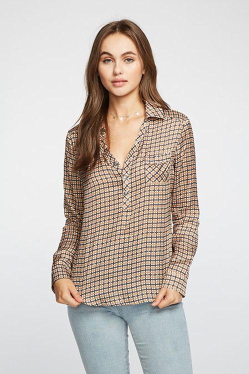 Silky Basics Henley Shirt