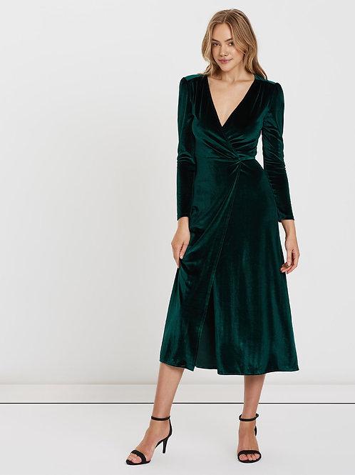 Izzy Velvet Wrap Maxi Dress