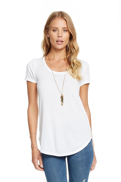Chaser Vintage Rib criss cross tee: white