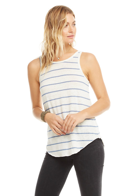 Chaser: Linen Jersey scoop back muscle tank