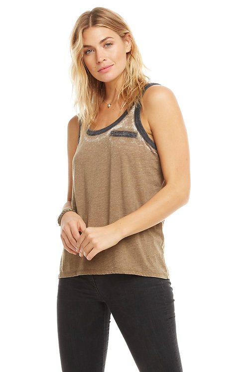 Scoop neck ringer tank