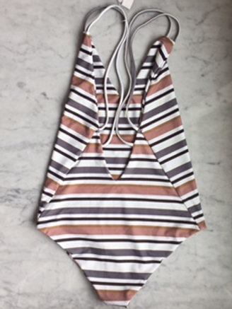 Lucia one piece: skinney stripe