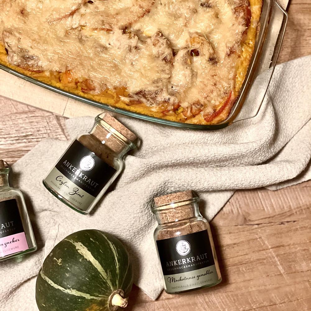 Wenn Kürbis, Grünkohl und Pasta sich mit aromatischen Gewürzen zur perfekten Lasagne vereinen