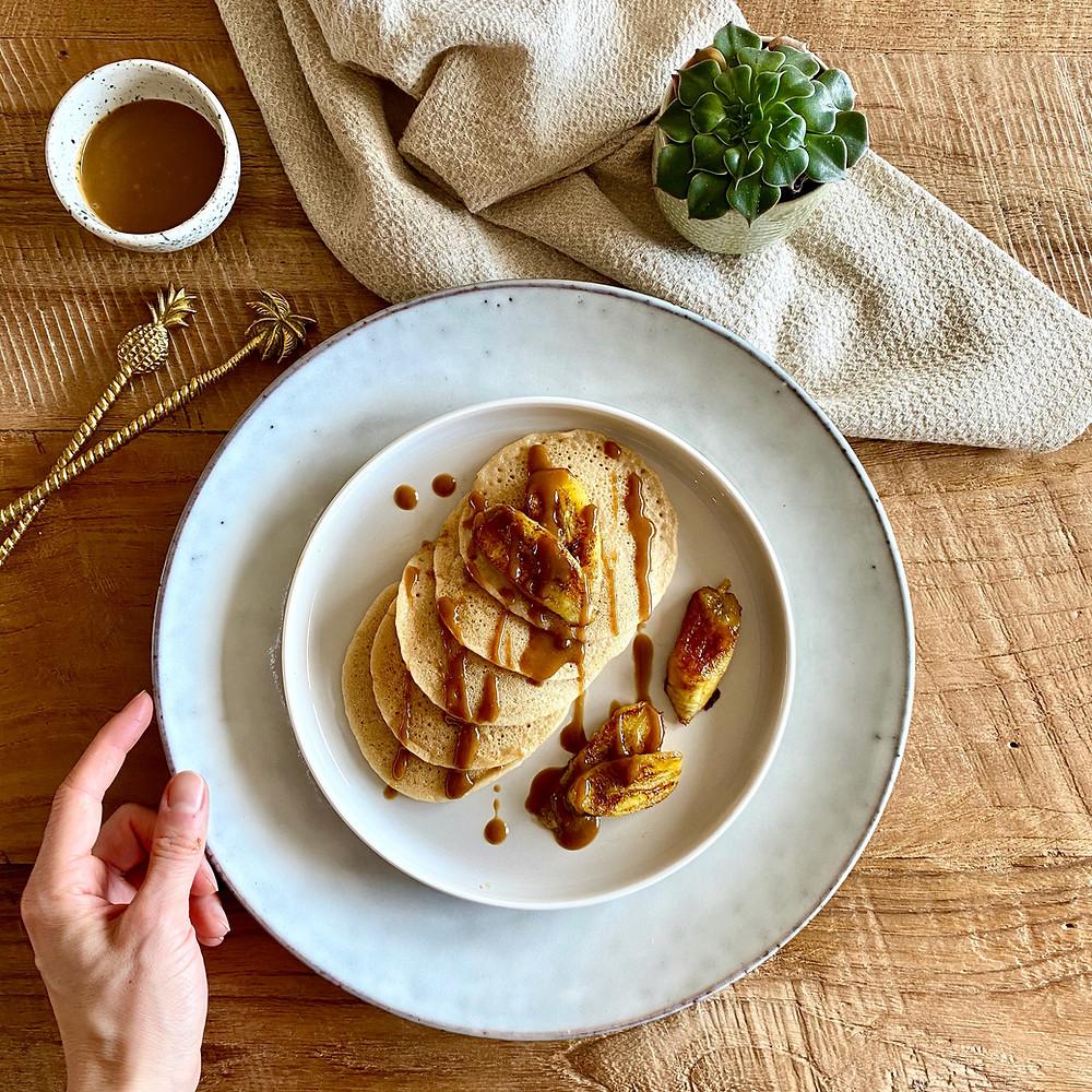 Glutenfrei, vegan und zuckerfrei: Gesunde und köstliche Pfannkuchen