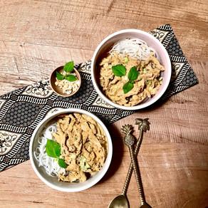"Vegane Thai-Curry-Nudeln mit ""Pulled Pork"""