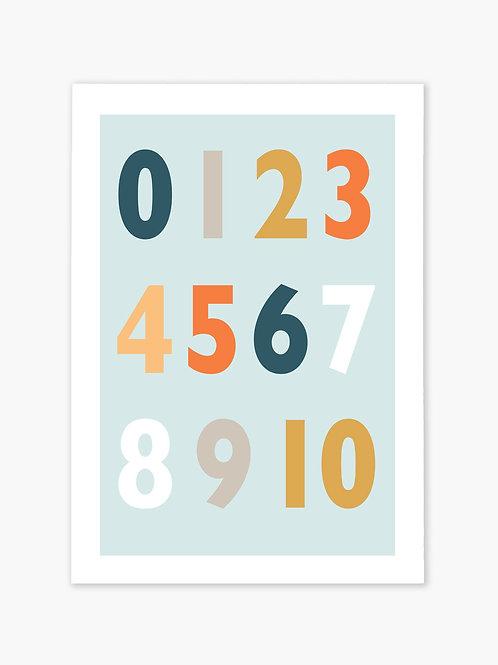 123 Print - Blue
