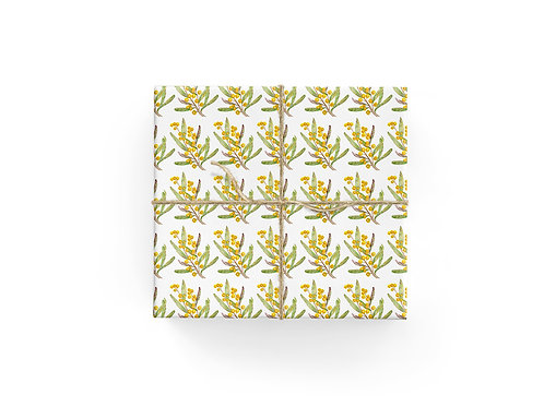 Wrapping Paper - Wattle