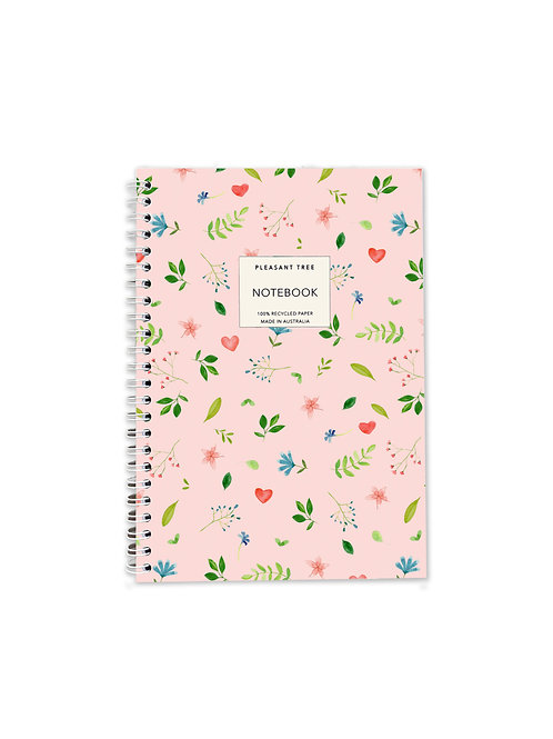 A5 Spiral Notebook - Lovely Leaves