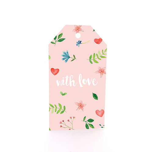 Gift Tag 6 pack - With Love
