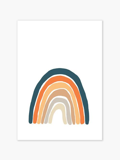 Earth Rainbow Print