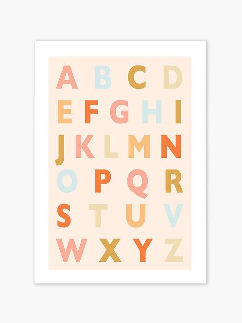 ABC Print - Peach
