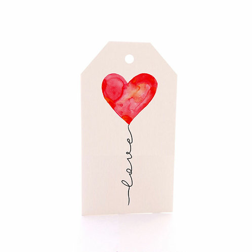 Gift Tag 6 pack - Love Balloon