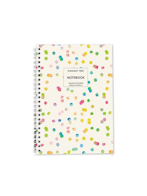 A5 Spiral Notebook - Confetti