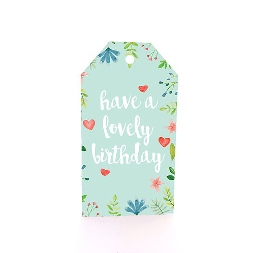 Gift Tag 6 pack - Lovely Birthday