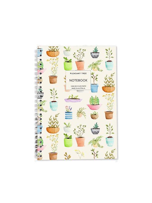 A5 Spiral Notebook - Plantation