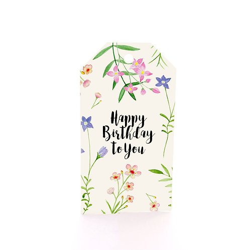 Gift Tag 6 pack - Wildflower Scatter