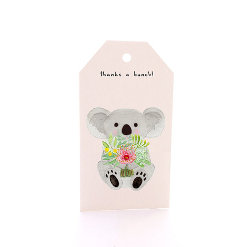 Gift Tag 6 pack - Koala Bouquet