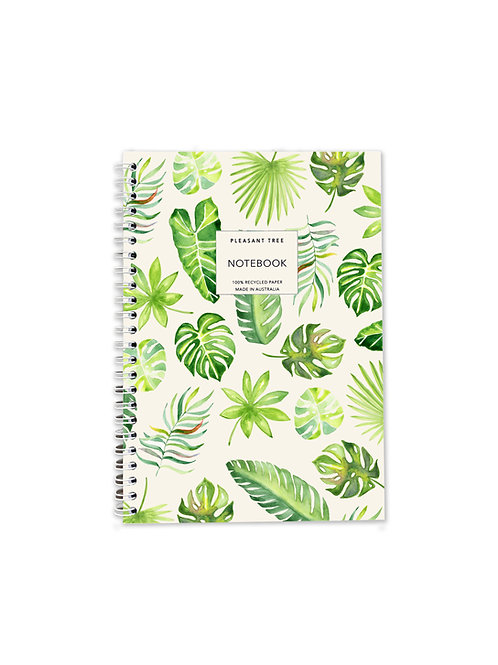 A5 Spiral Notebook - Scattered Palms